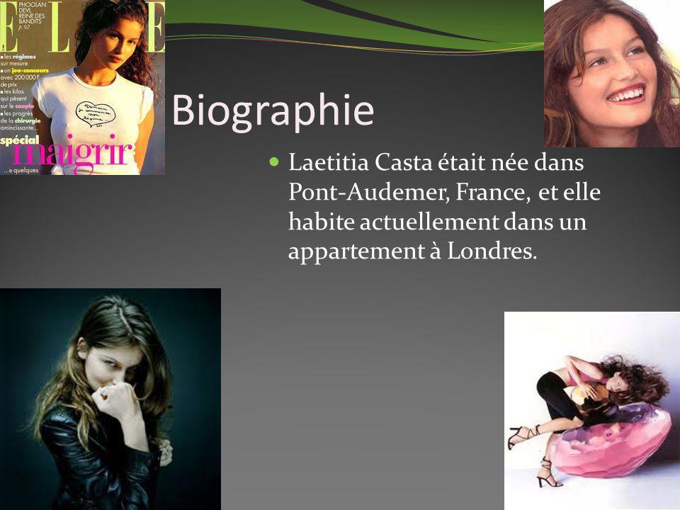 Biographie Laetitia Casta était née dans Pont-Audemer, France, et elle habite actuellement dans un appartement à Londres.
