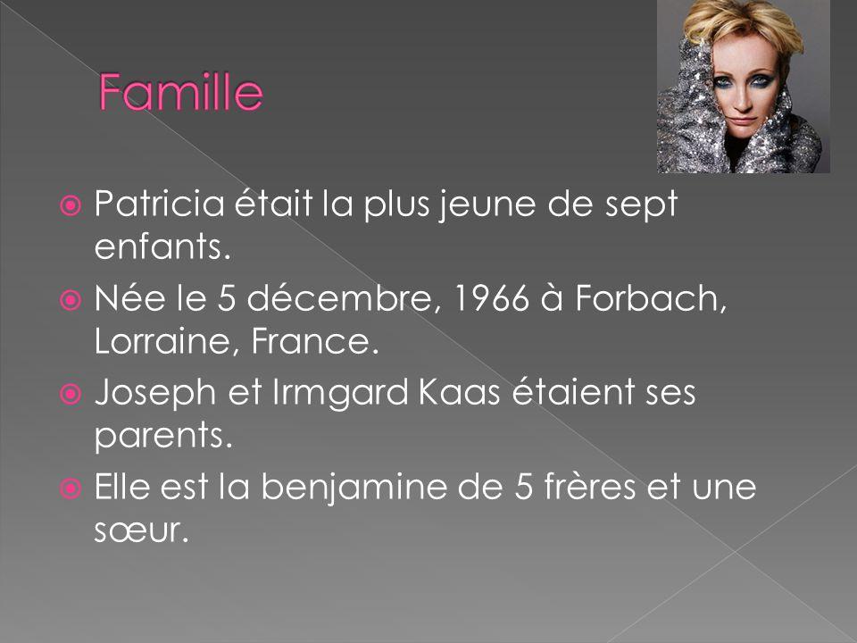 Famille Patricia était la plus jeune de sept enfants.