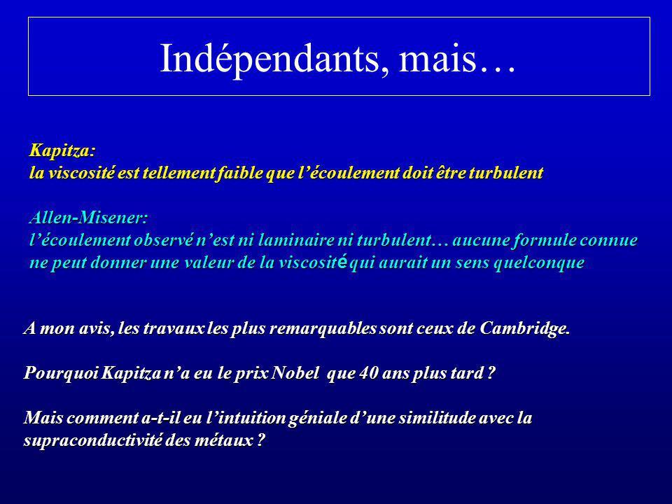 Indépendants, mais… Kapitza: