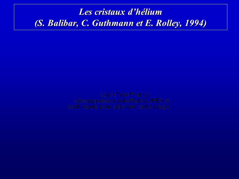 Les cristaux d'hélium (S. Balibar, C. Guthmann et E. Rolley, 1994)