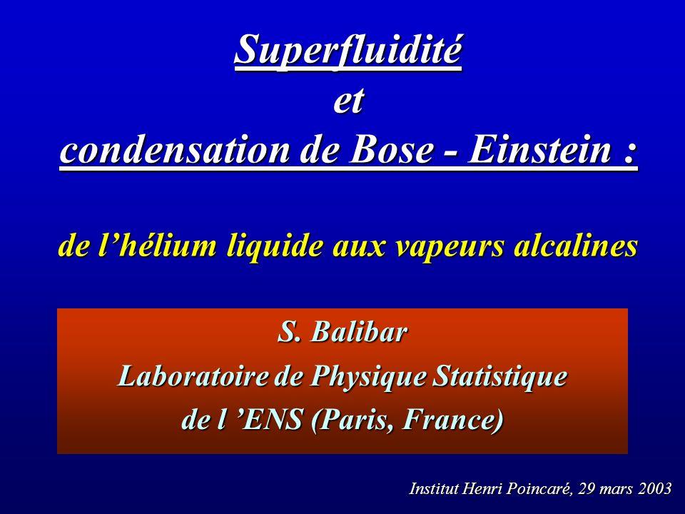 Laboratoire de Physique Statistique de l 'ENS (Paris, France)