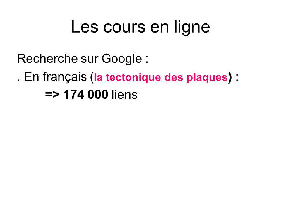 Les cours en ligne Recherche sur Google :