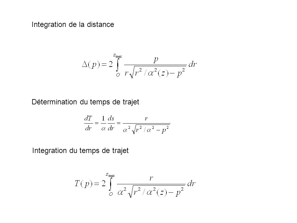 Integration de la distance