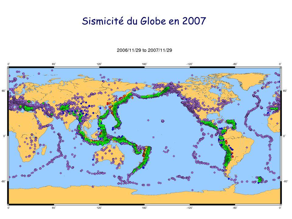Sismicité du Globe en 2007