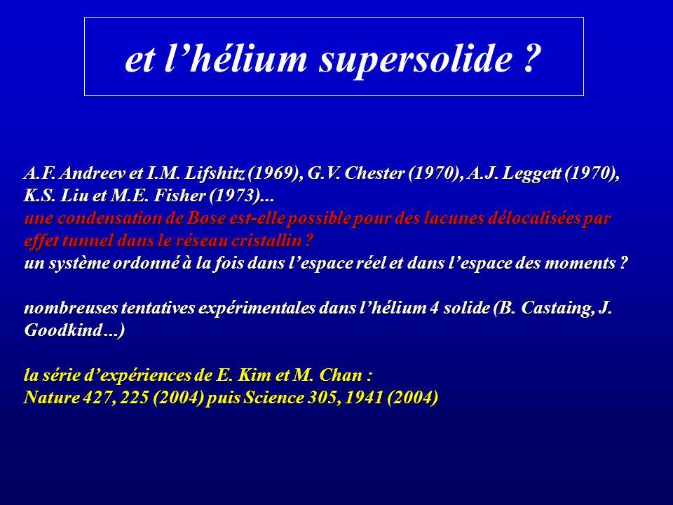 et l'hélium supersolide