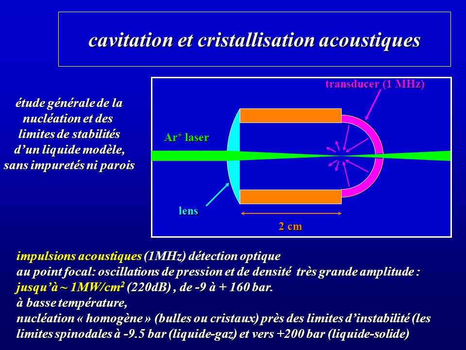 cavitation et cristallisation acoustiques