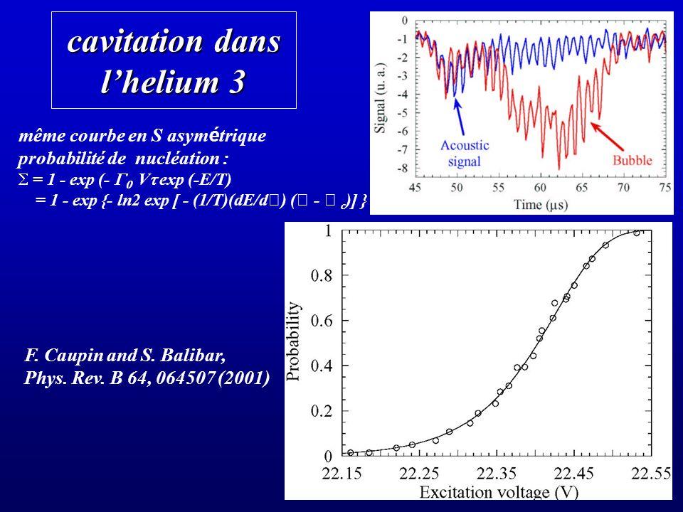 cavitation dans l'helium 3