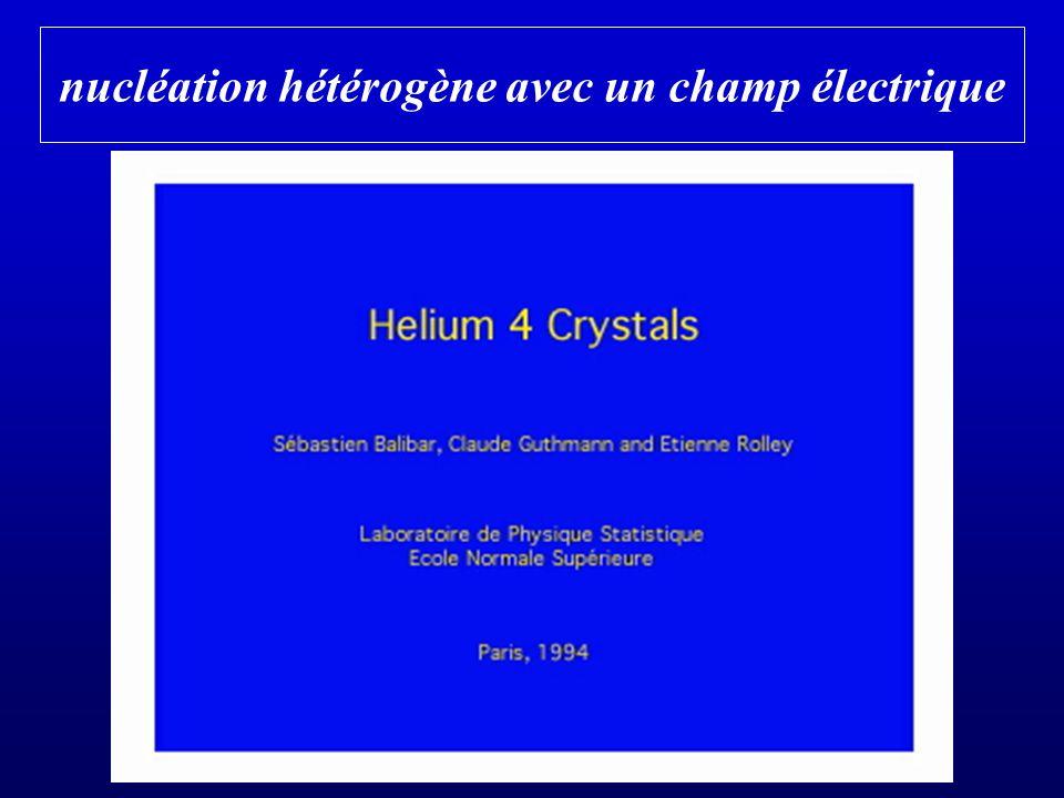 nucléation hétérogène avec un champ électrique