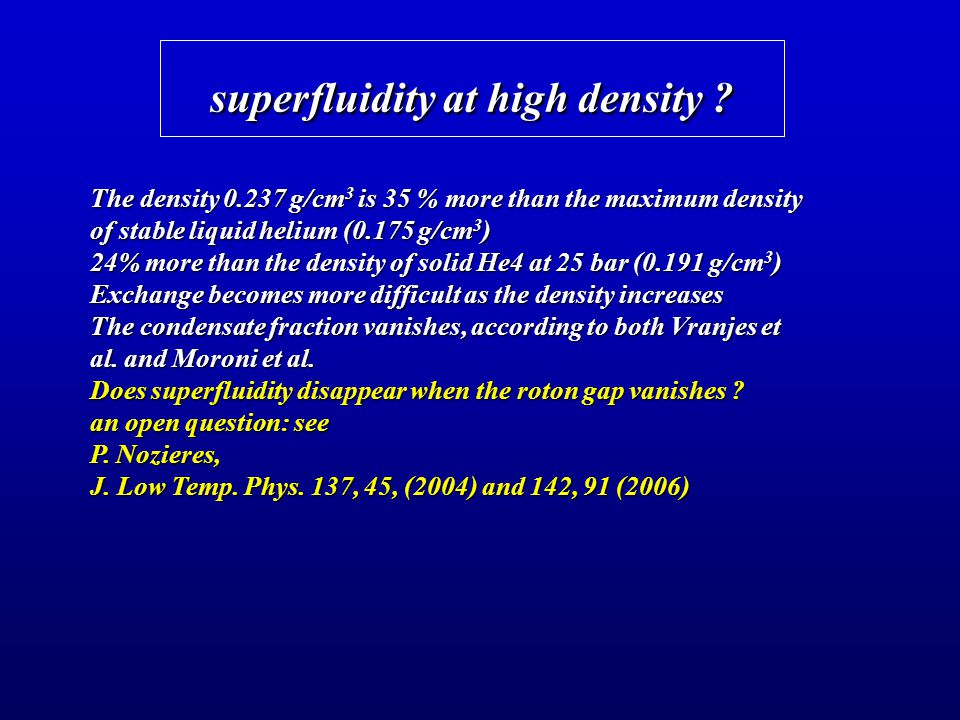 superfluidity at high density
