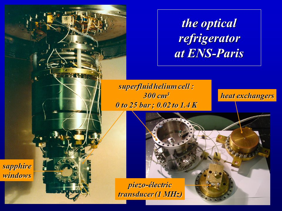 the optical refrigerator at ENS-Paris