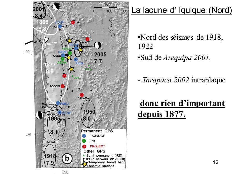 La lacune d' Iquique (Nord)