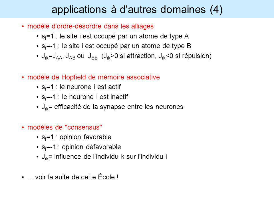 applications à d autres domaines (4)