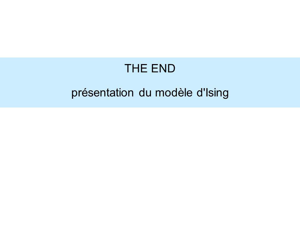 THE END présentation du modèle d Ising