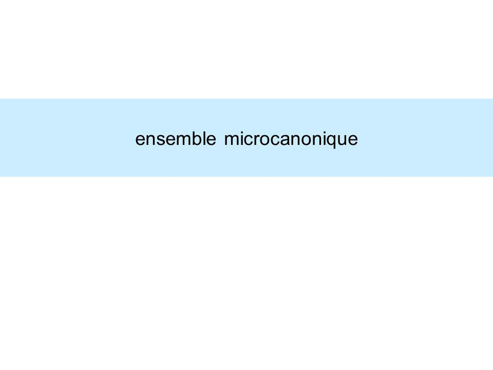ensemble microcanonique