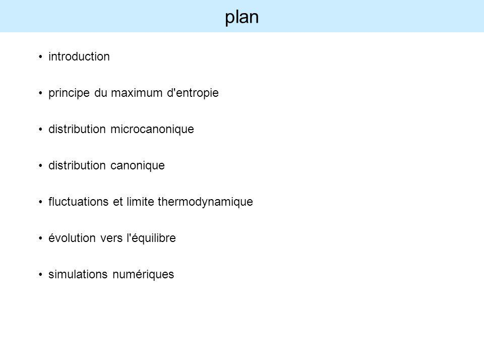 plan introduction principe du maximum d entropie