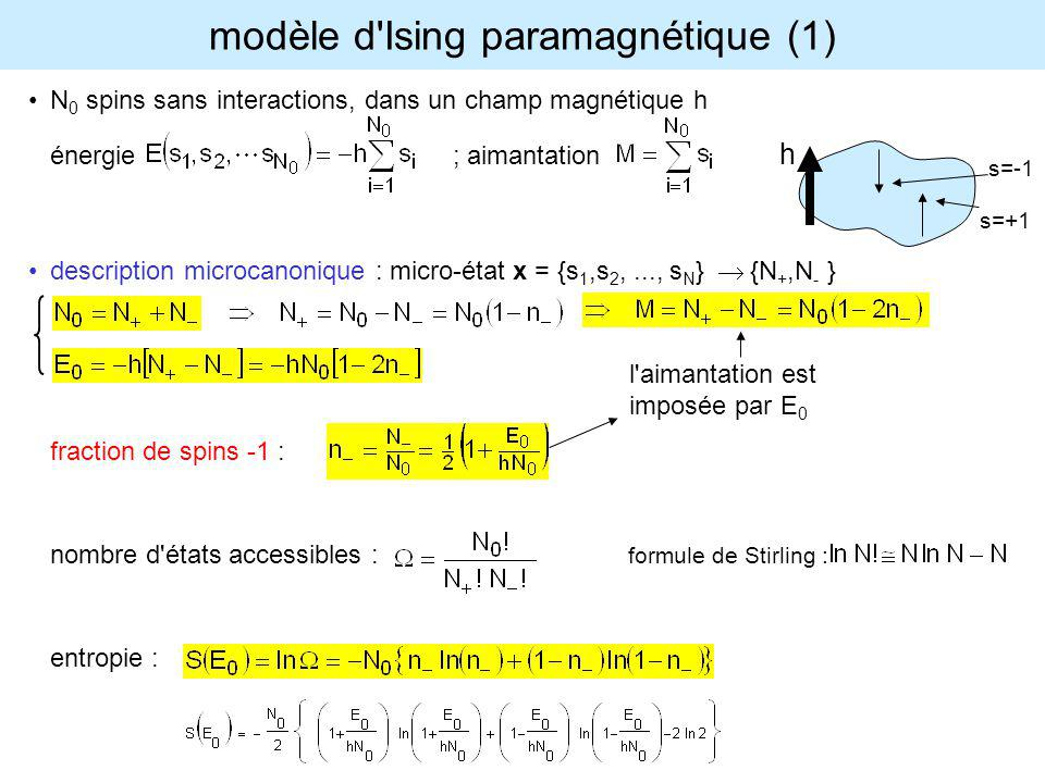 modèle d Ising paramagnétique (1)