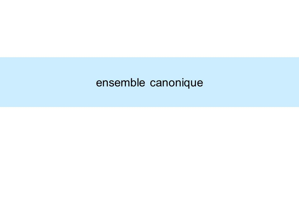 ensemble canonique