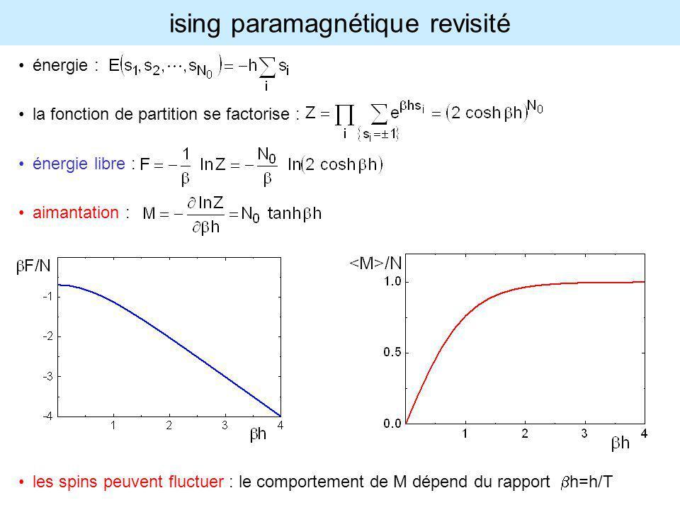 ising paramagnétique revisité