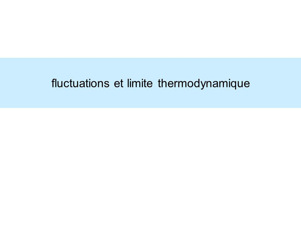 fluctuations et limite thermodynamique