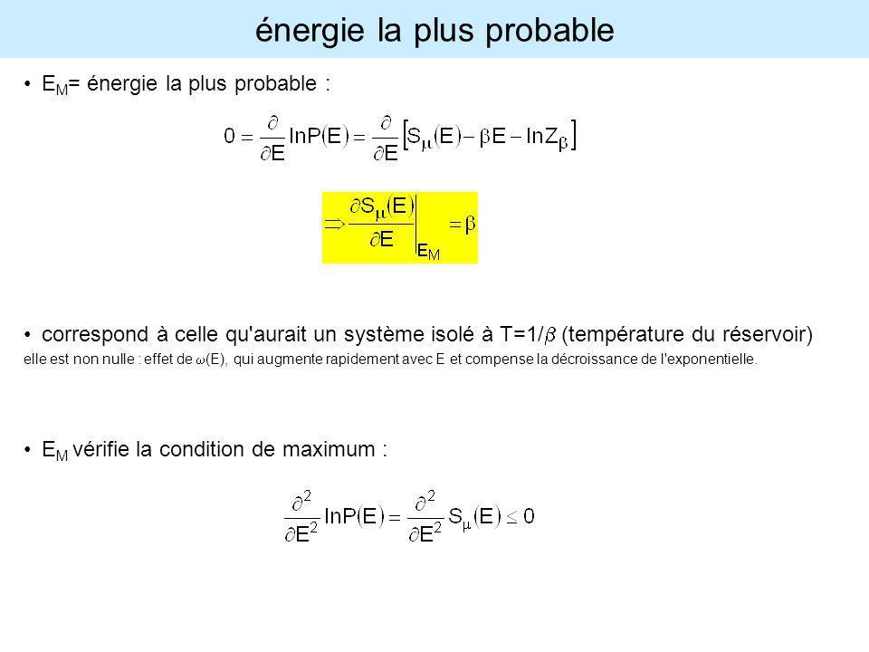 énergie la plus probable
