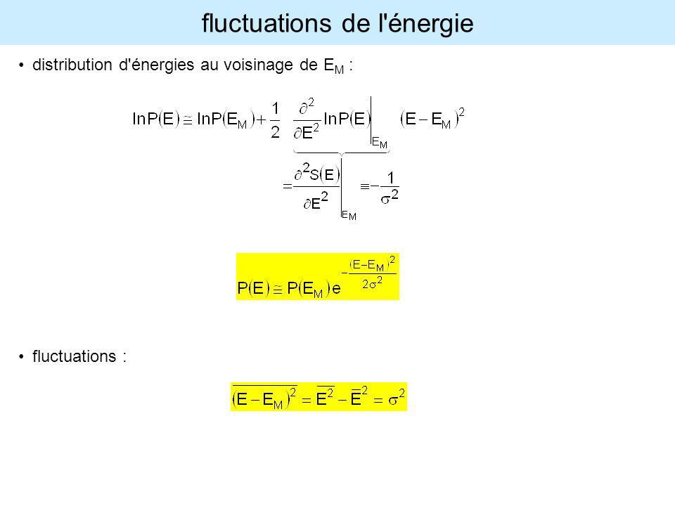 fluctuations de l énergie