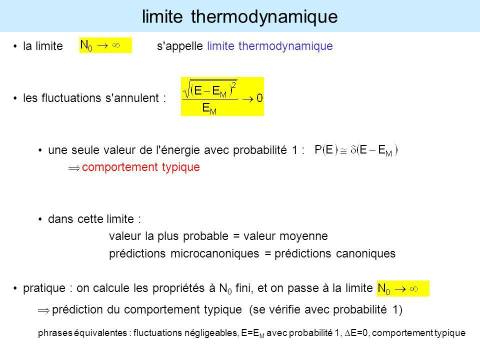 limite thermodynamique