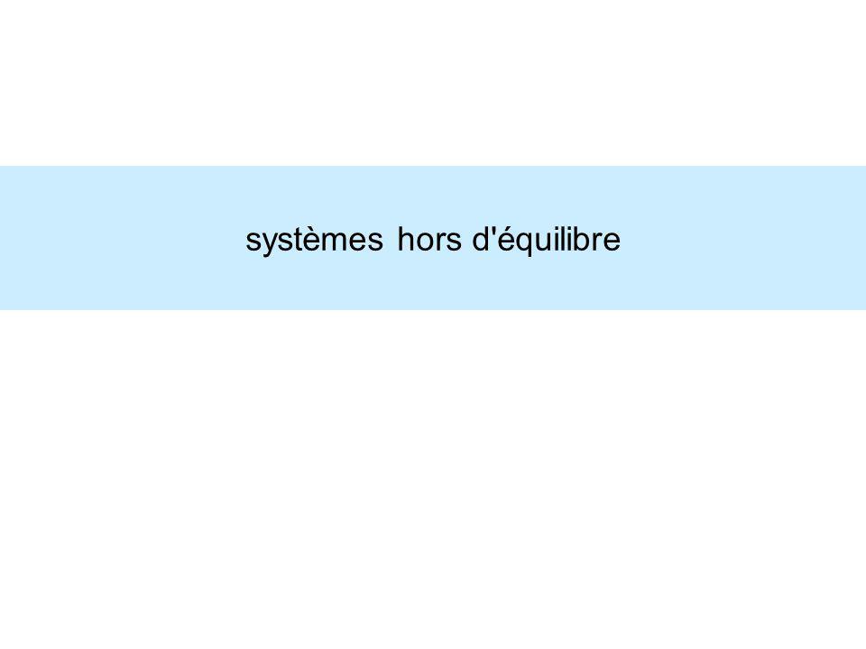 systèmes hors d équilibre