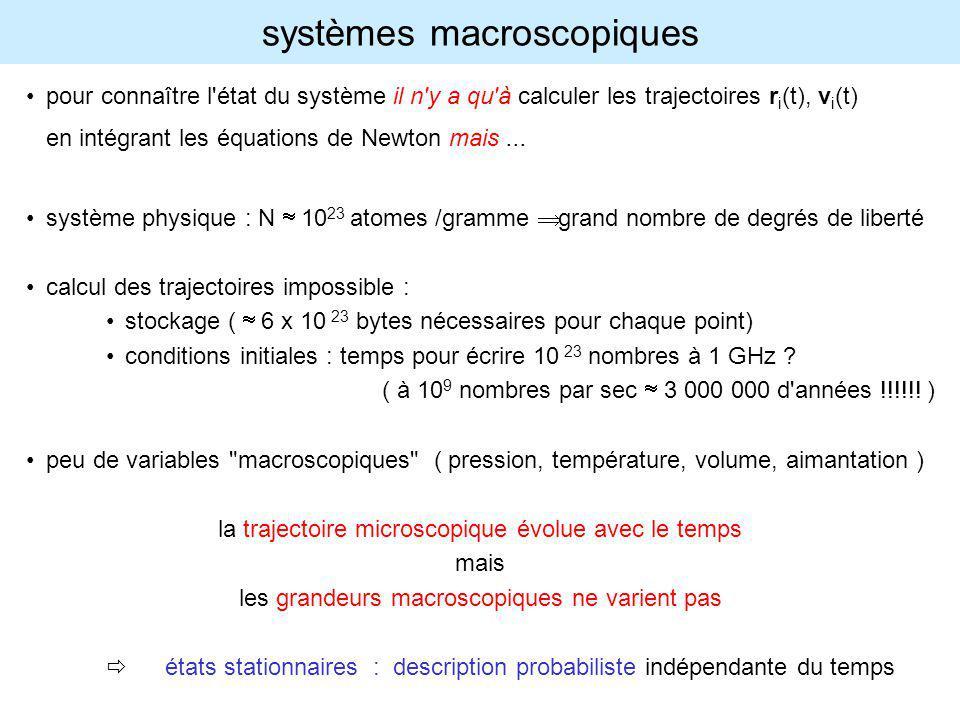 systèmes macroscopiques