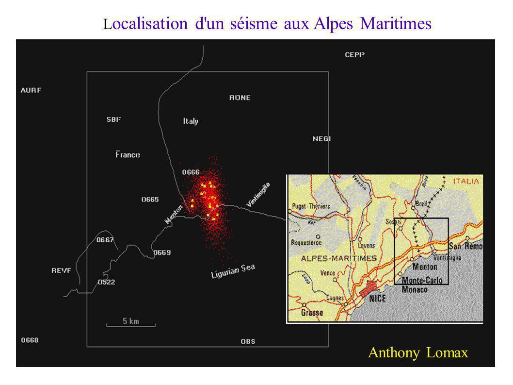 Localisation d un séisme aux Alpes Maritimes
