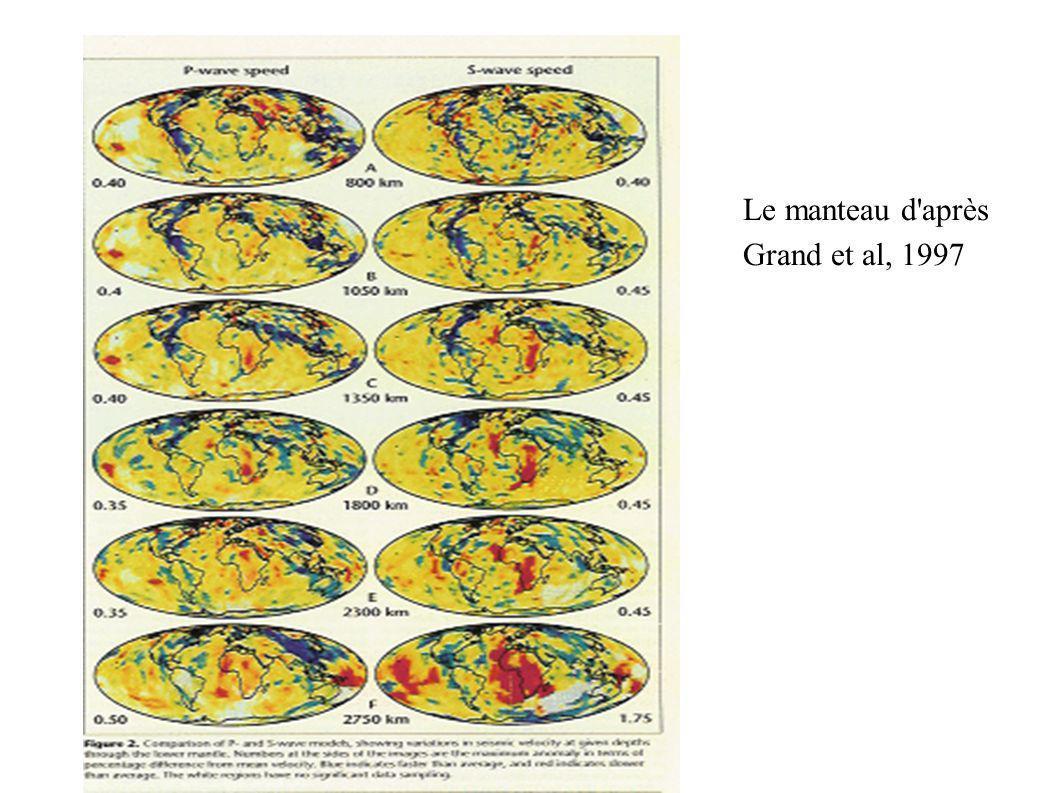 Le manteau d après Grand et al, 1997