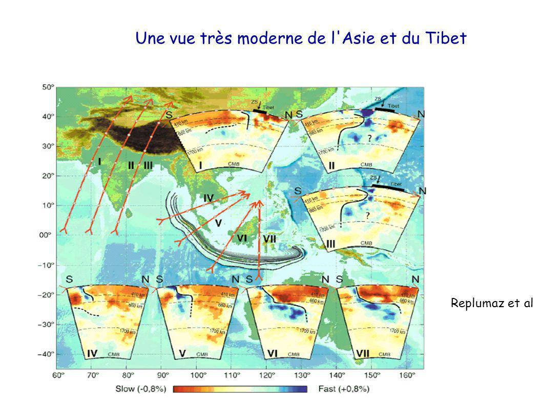 Une vue très moderne de l Asie et du Tibet