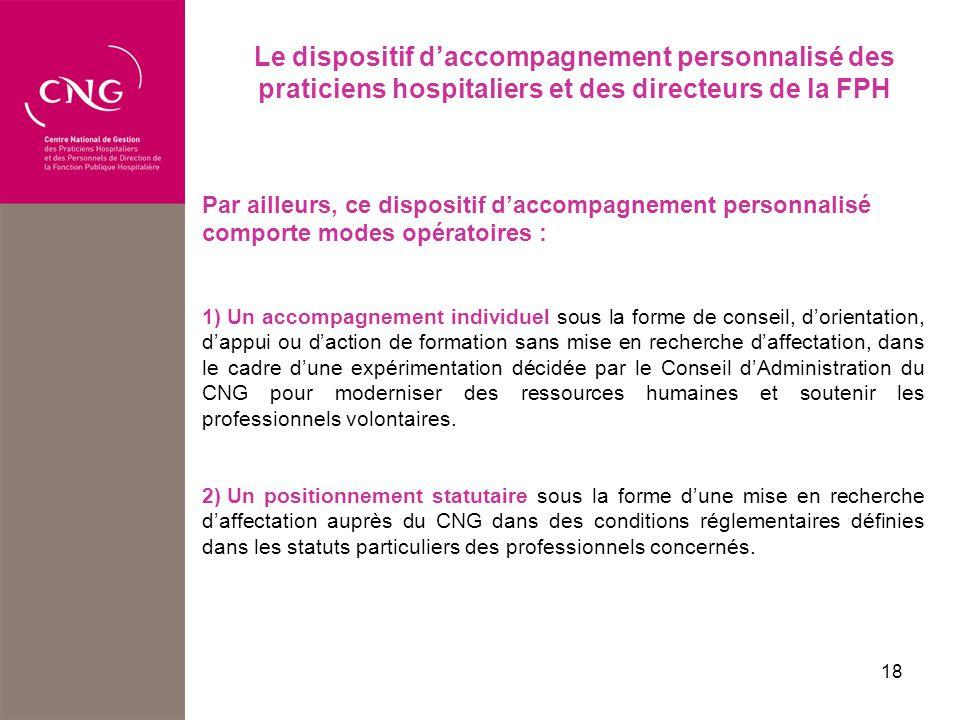 Le dispositif d'accompagnement personnalisé des praticiens hospitaliers et des directeurs de la FPH