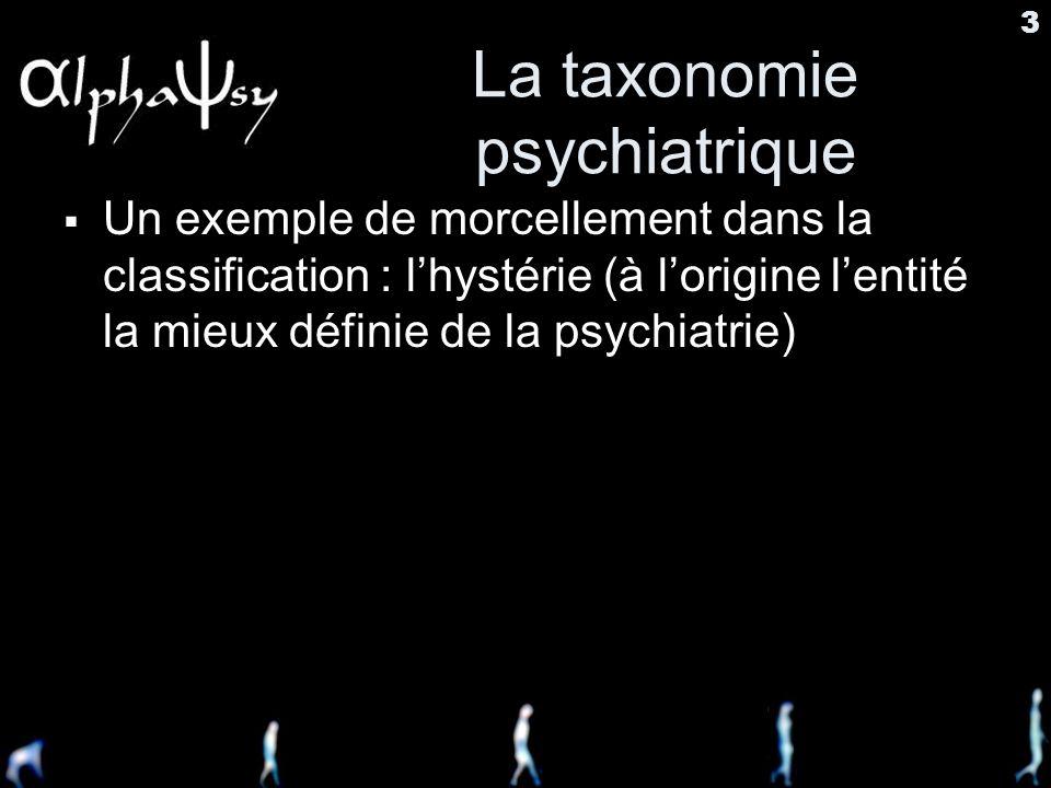 La taxonomie psychiatrique