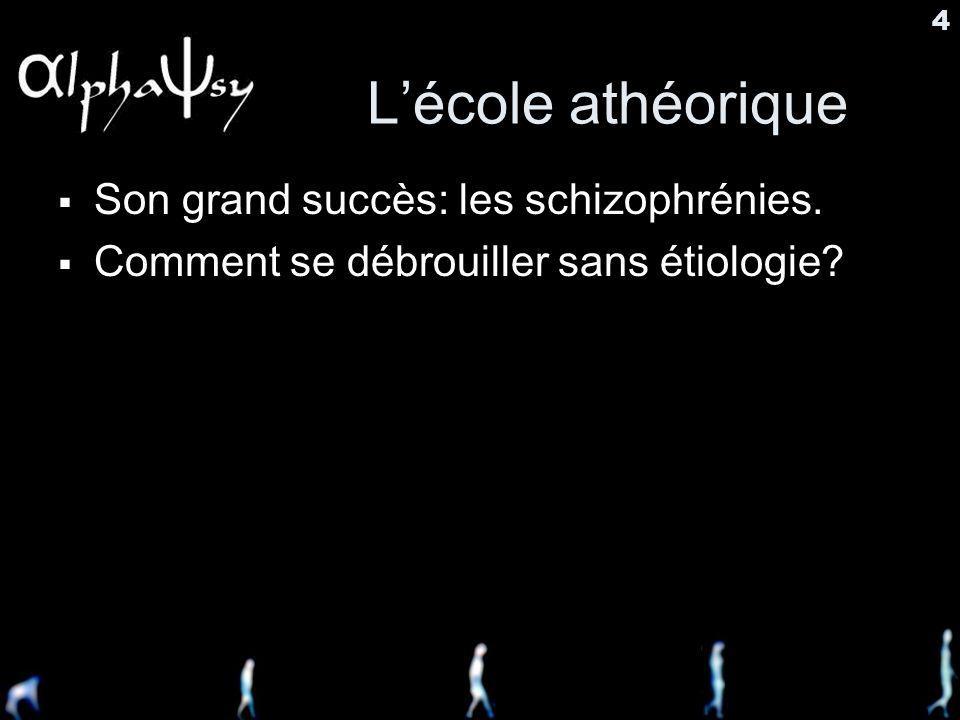 L'école athéorique Son grand succès: les schizophrénies.