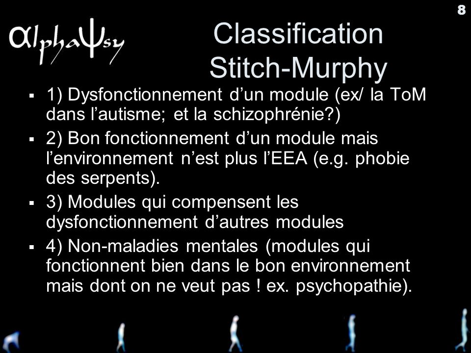 Classification Stitch-Murphy