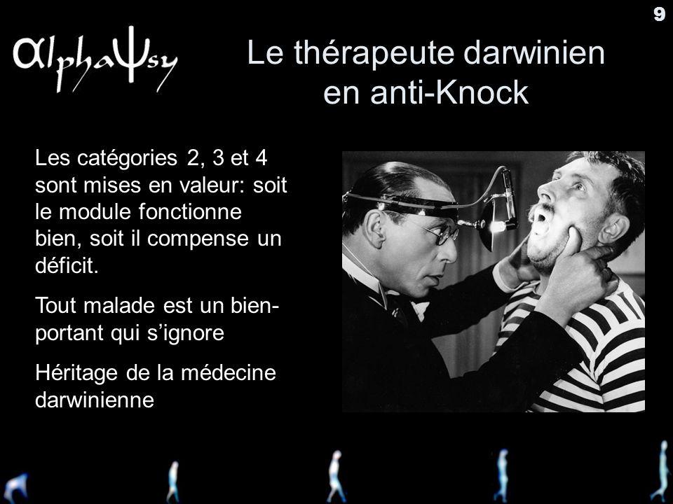 Le thérapeute darwinien en anti-Knock