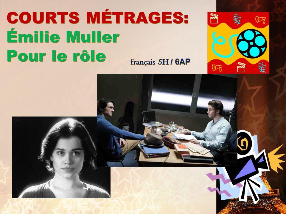 COURTS MÉTRAGES: Émilie Muller Pour le rôle