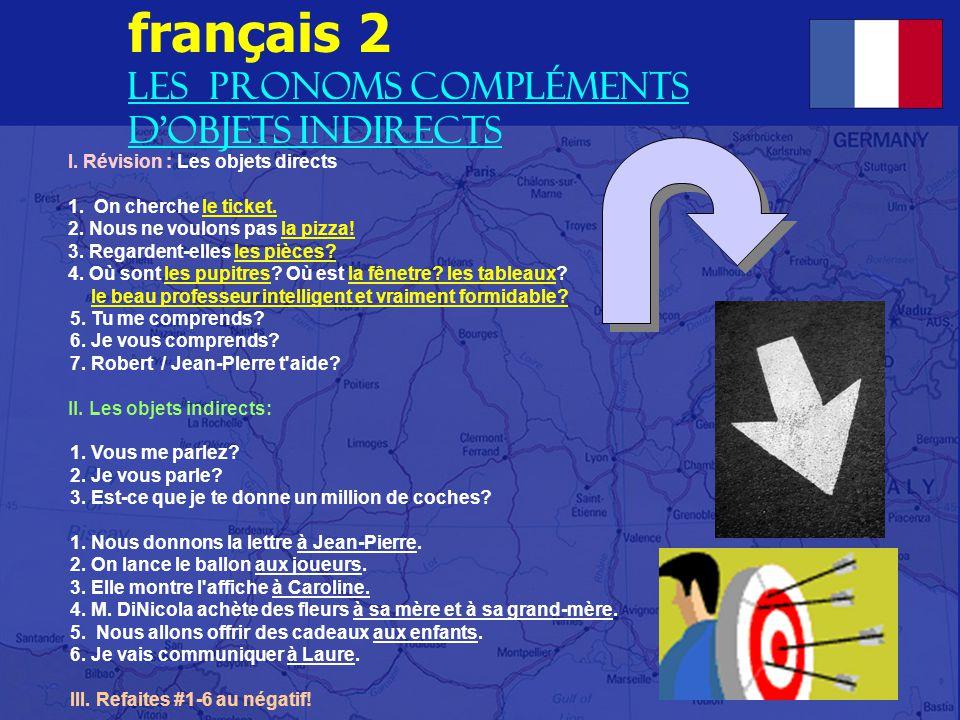 français 2 Les pronoms complÉments d objets indirects
