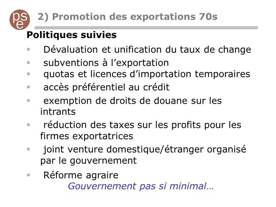 2) Promotion des exportations 70s