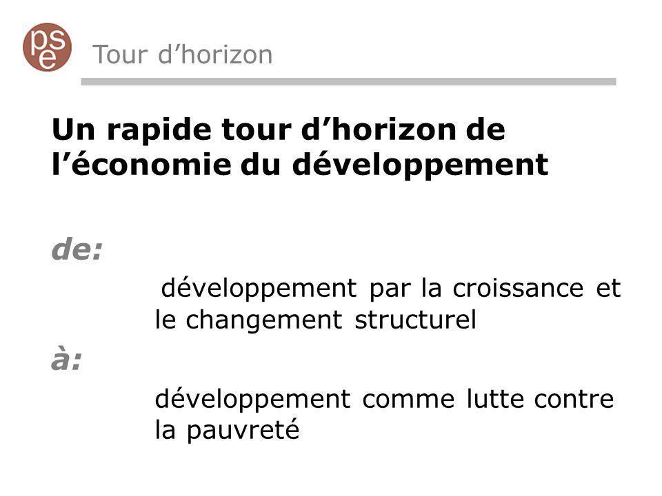 Un rapide tour d'horizon de l'économie du développement