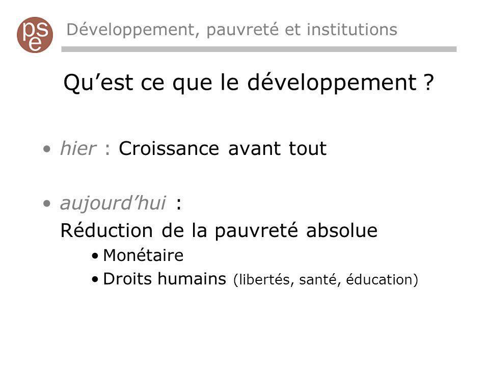 Qu'est ce que le développement