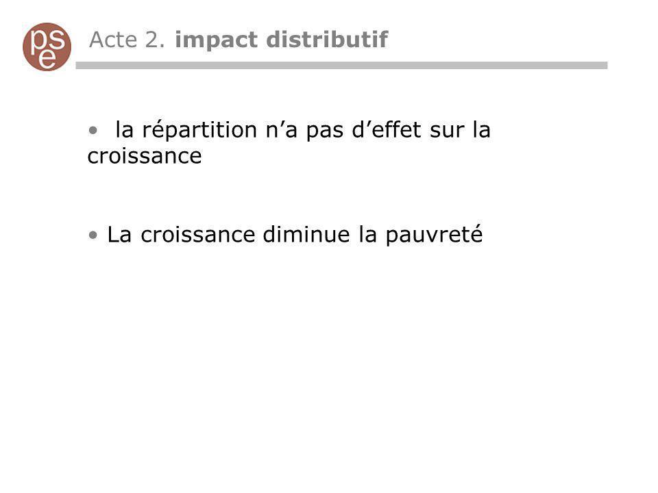 Acte 2. impact distributif