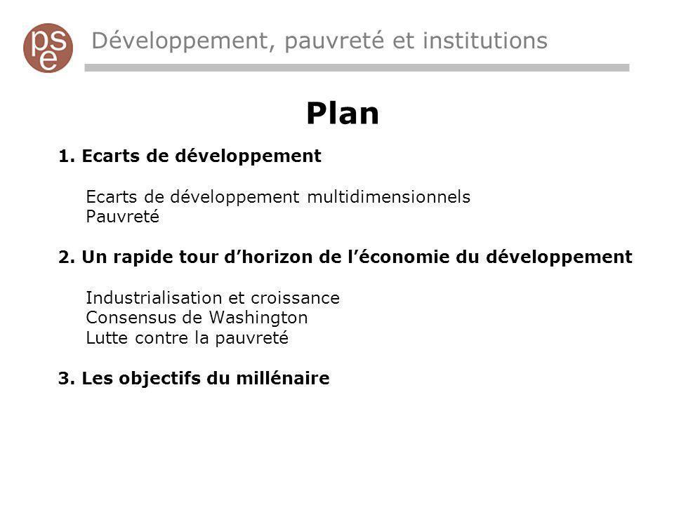 Plan Développement, pauvreté et institutions Ecarts de développement