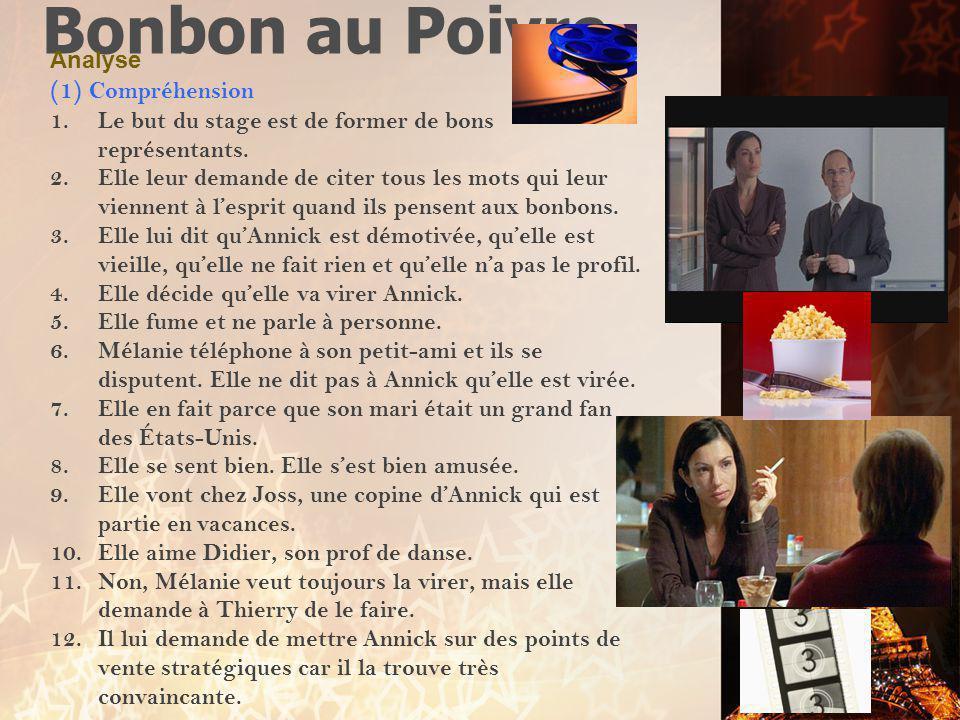 Bonbon au Poivre (1) Compréhension Analyse