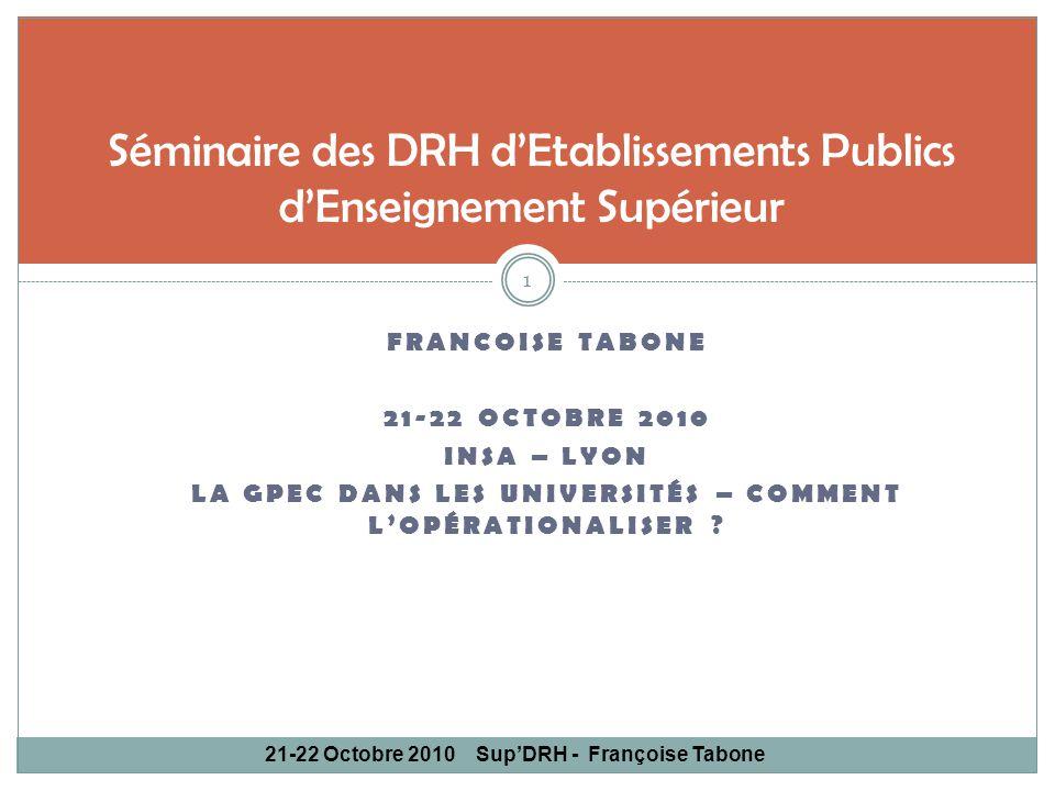 Séminaire des DRH d'Etablissements Publics d'Enseignement Supérieur