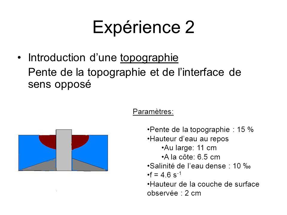 Expérience 2 Introduction d'une topographie