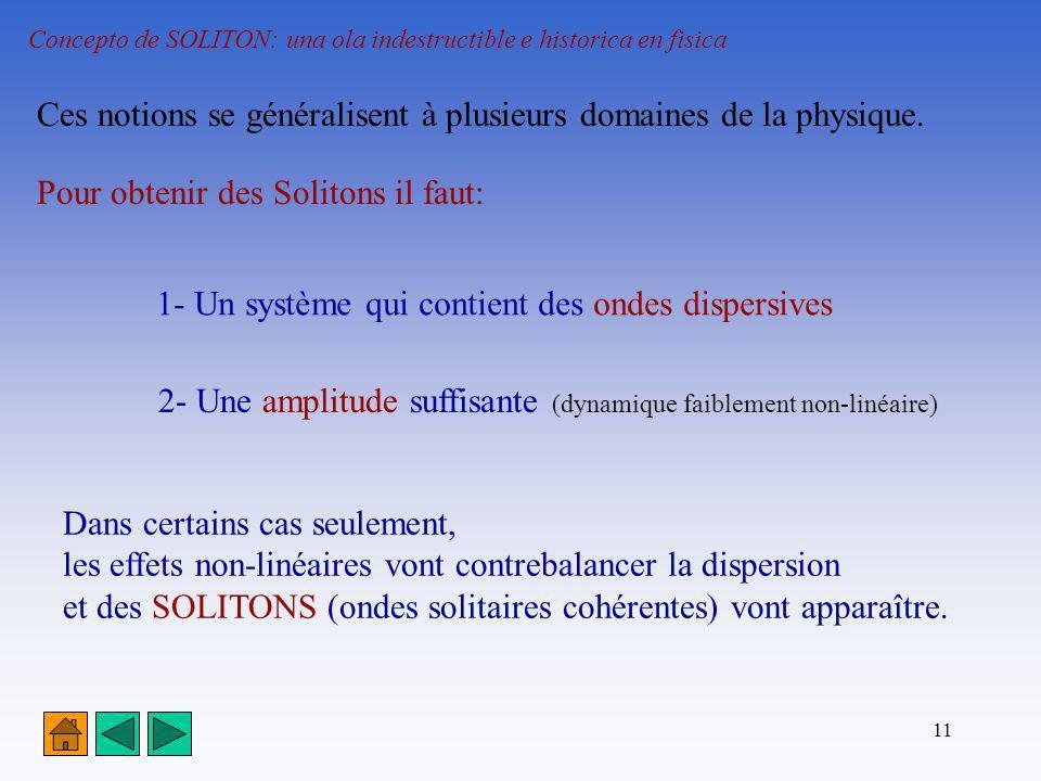 Ces notions se généralisent à plusieurs domaines de la physique.