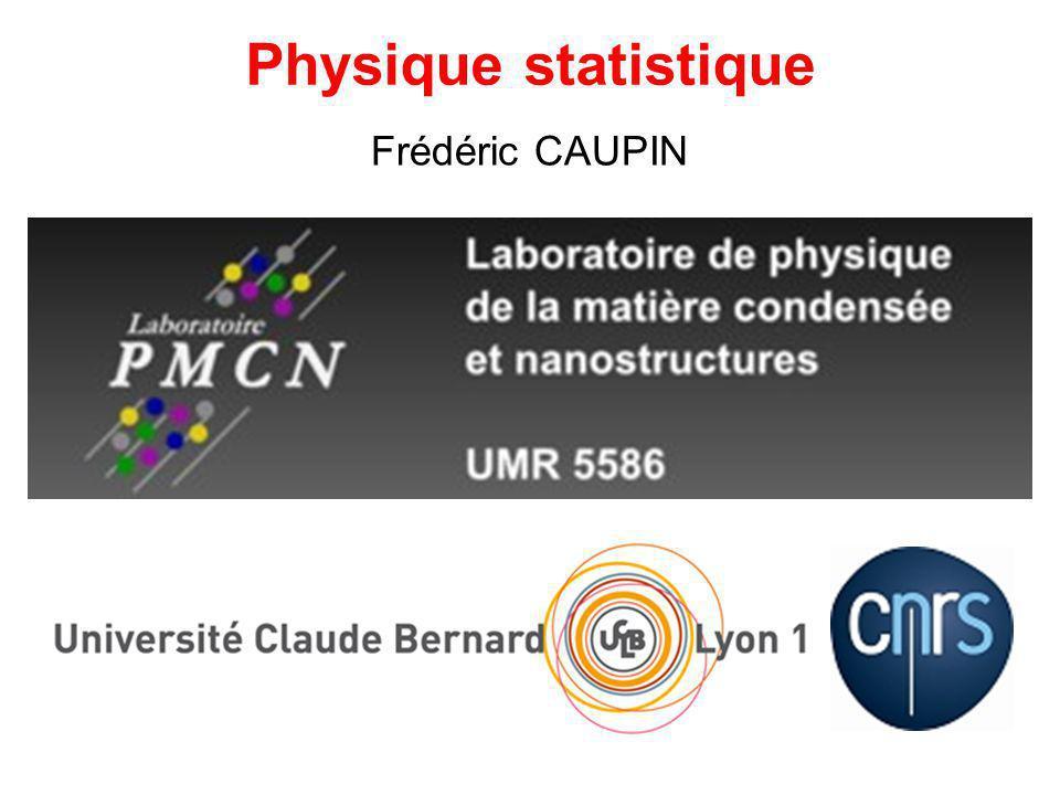 Physique statistique Frédéric CAUPIN