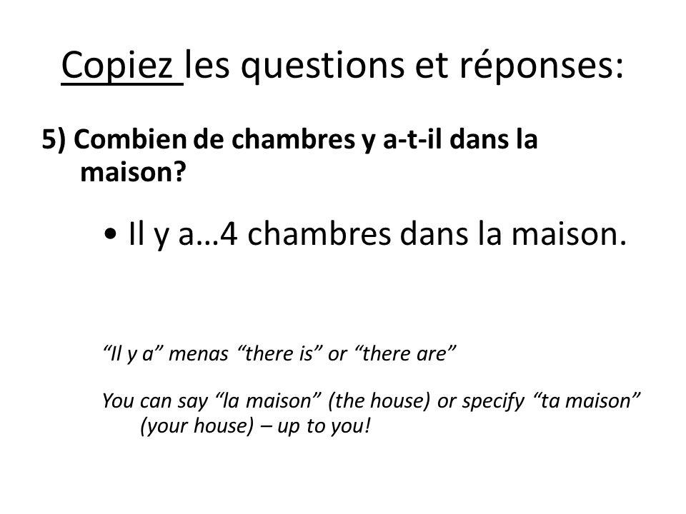Copiez les questions et réponses:
