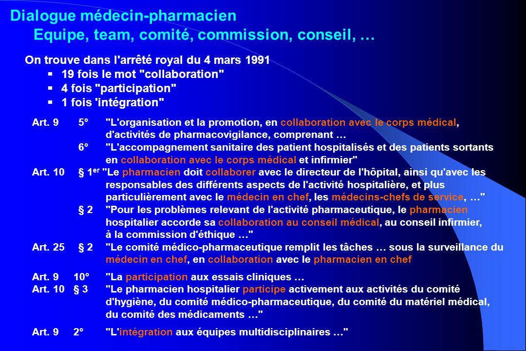 Dialogue médecin-pharmacien